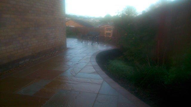 after garden area design