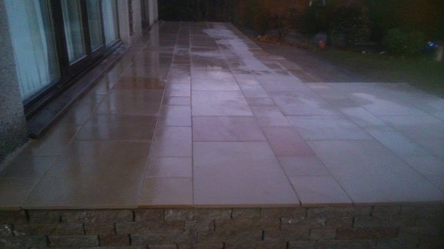 patios after cleaning