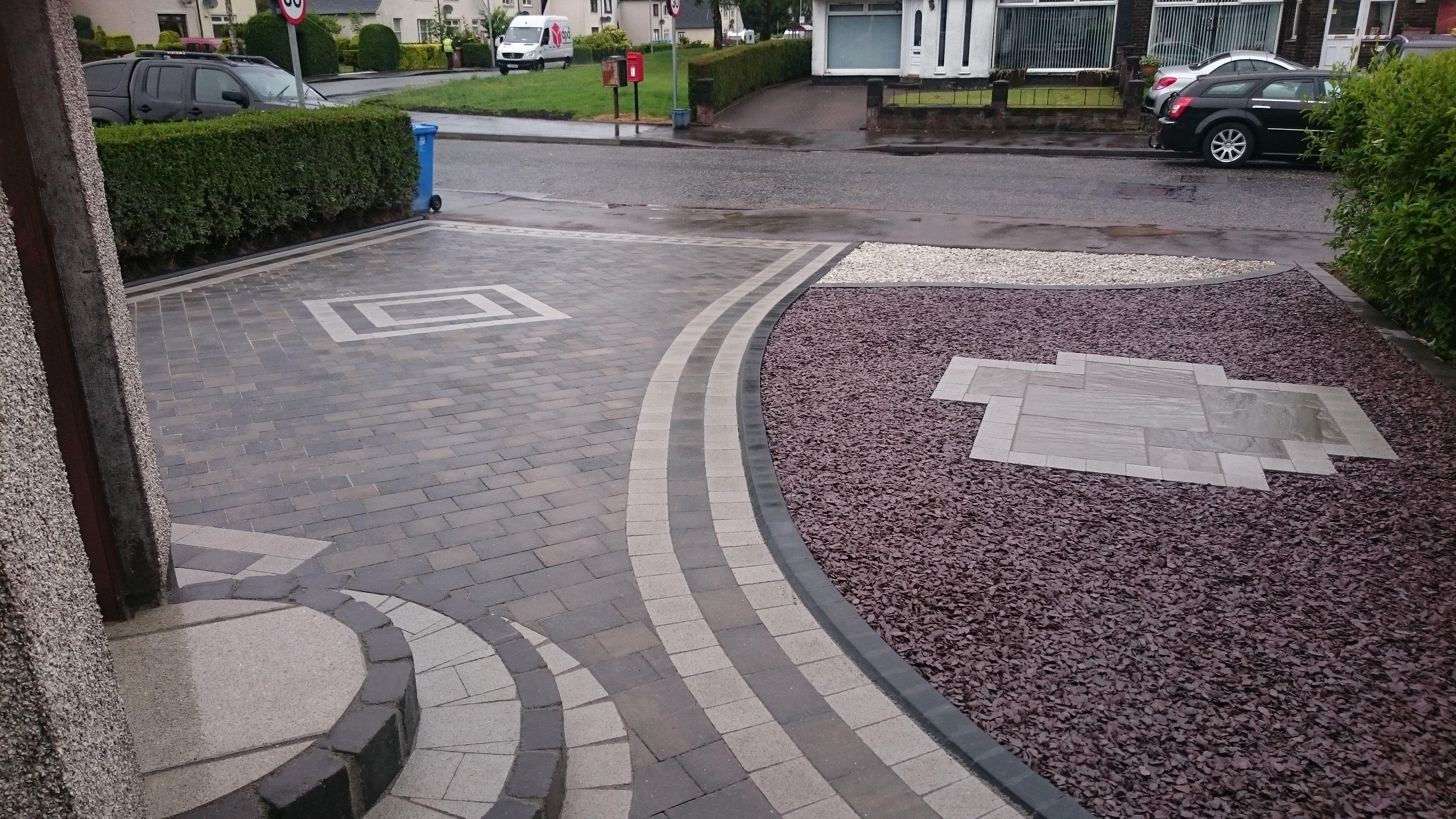 custom designed garden area