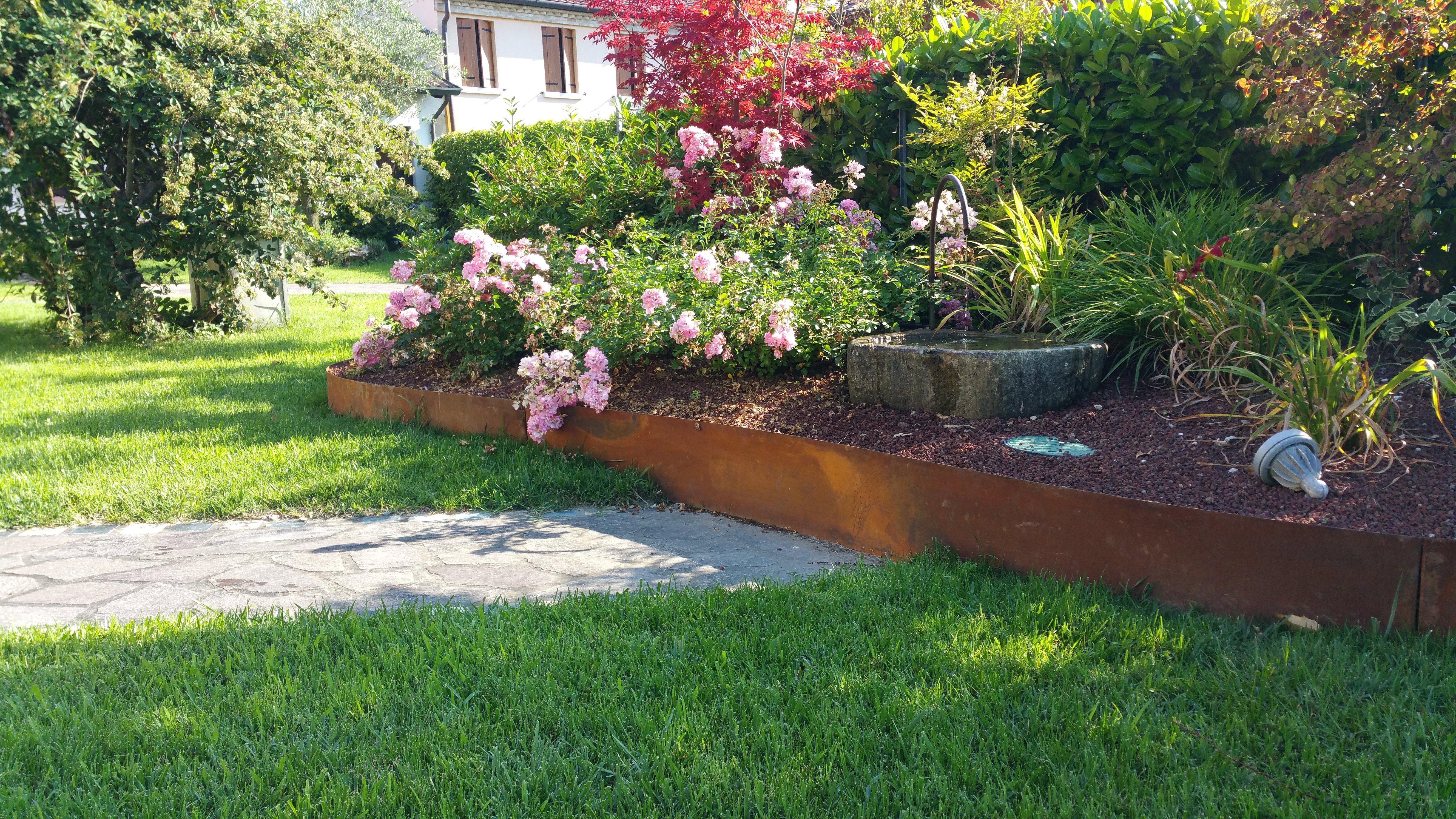 giardino con fiori e piante