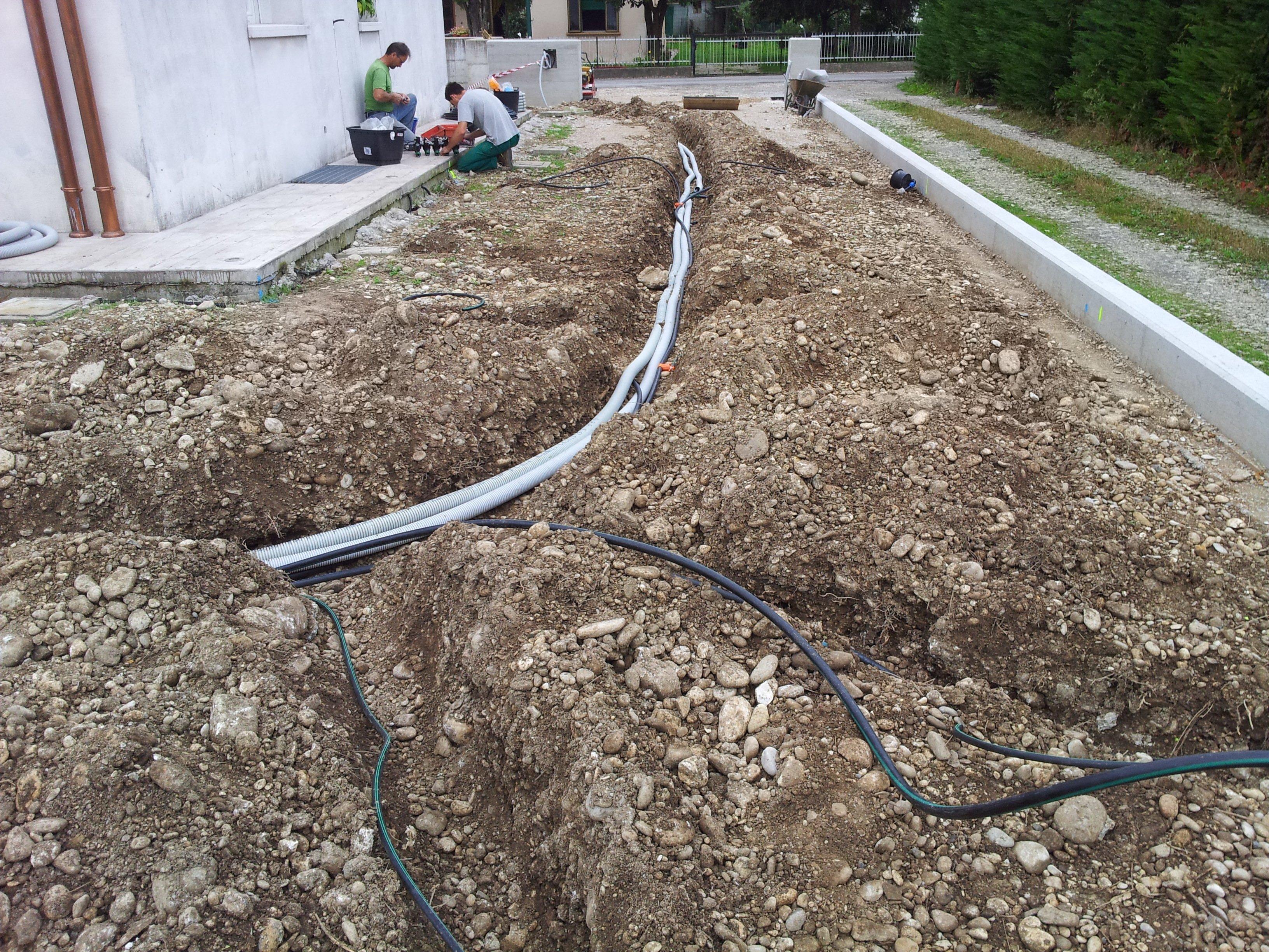 tubo di impianto di irrigazione