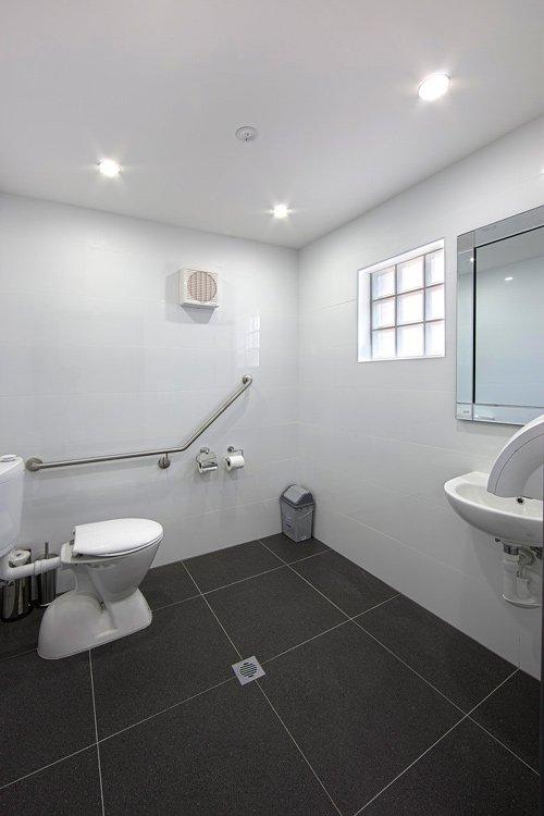 white public bathroom