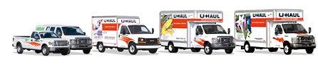 Variety of UHaul trucks