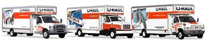 Variety of Larger UHaul trucks