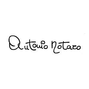 una firma Antonio Notaro