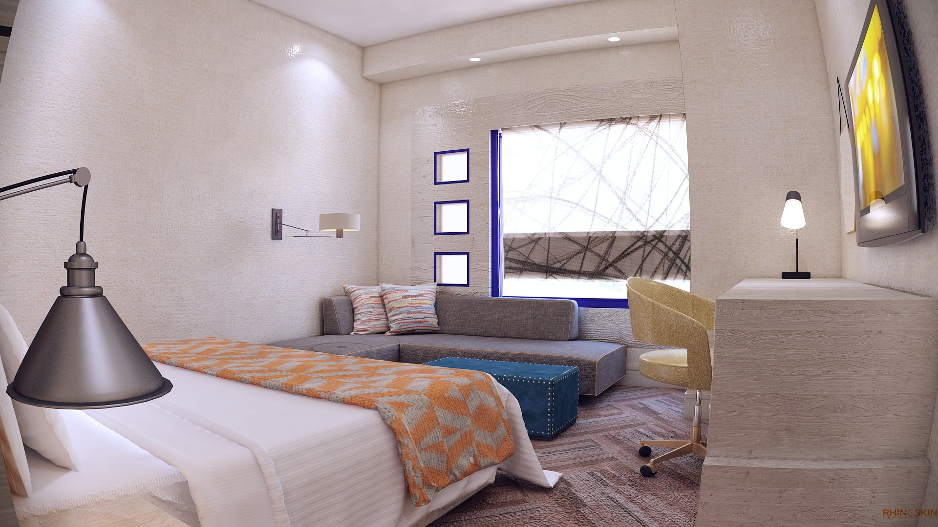 rendering design majilis interior