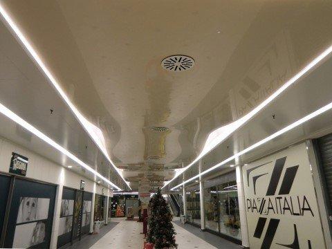 controsoffitto in galleria commerciale a torino