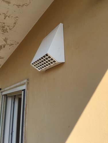 Impianto di ventilazione meccanica a Rivarolo Canavese