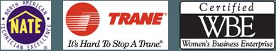 NATE, TRANE, WBE logo