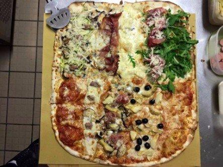 Pizza di otto sapori