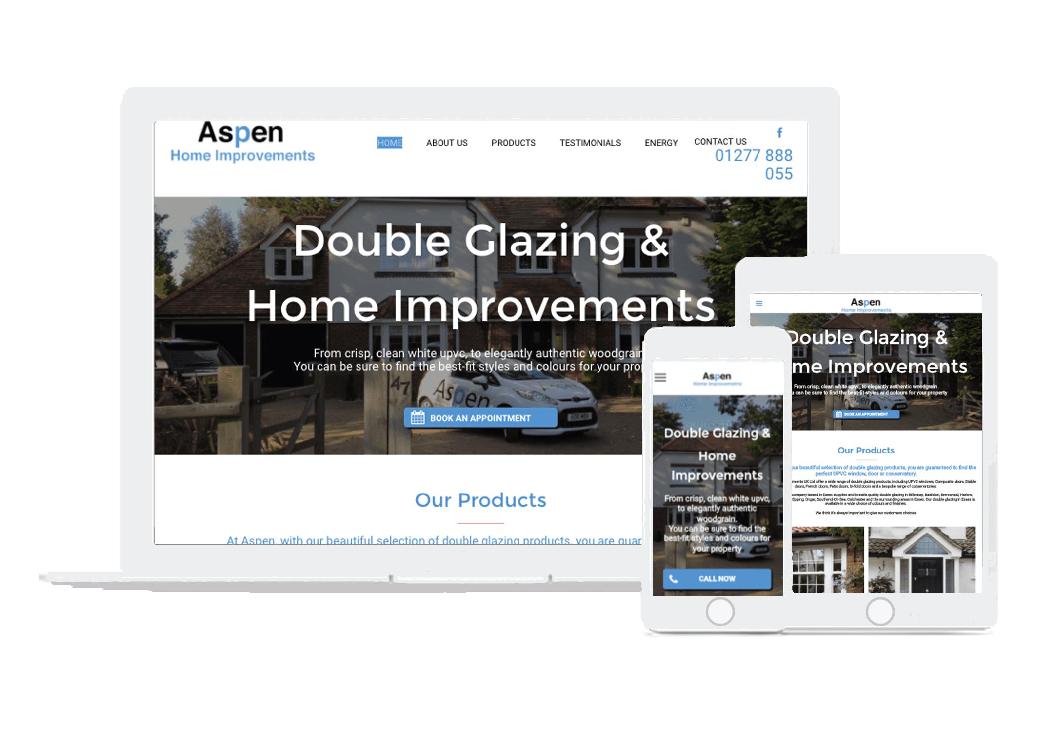 website design for double glazing companies