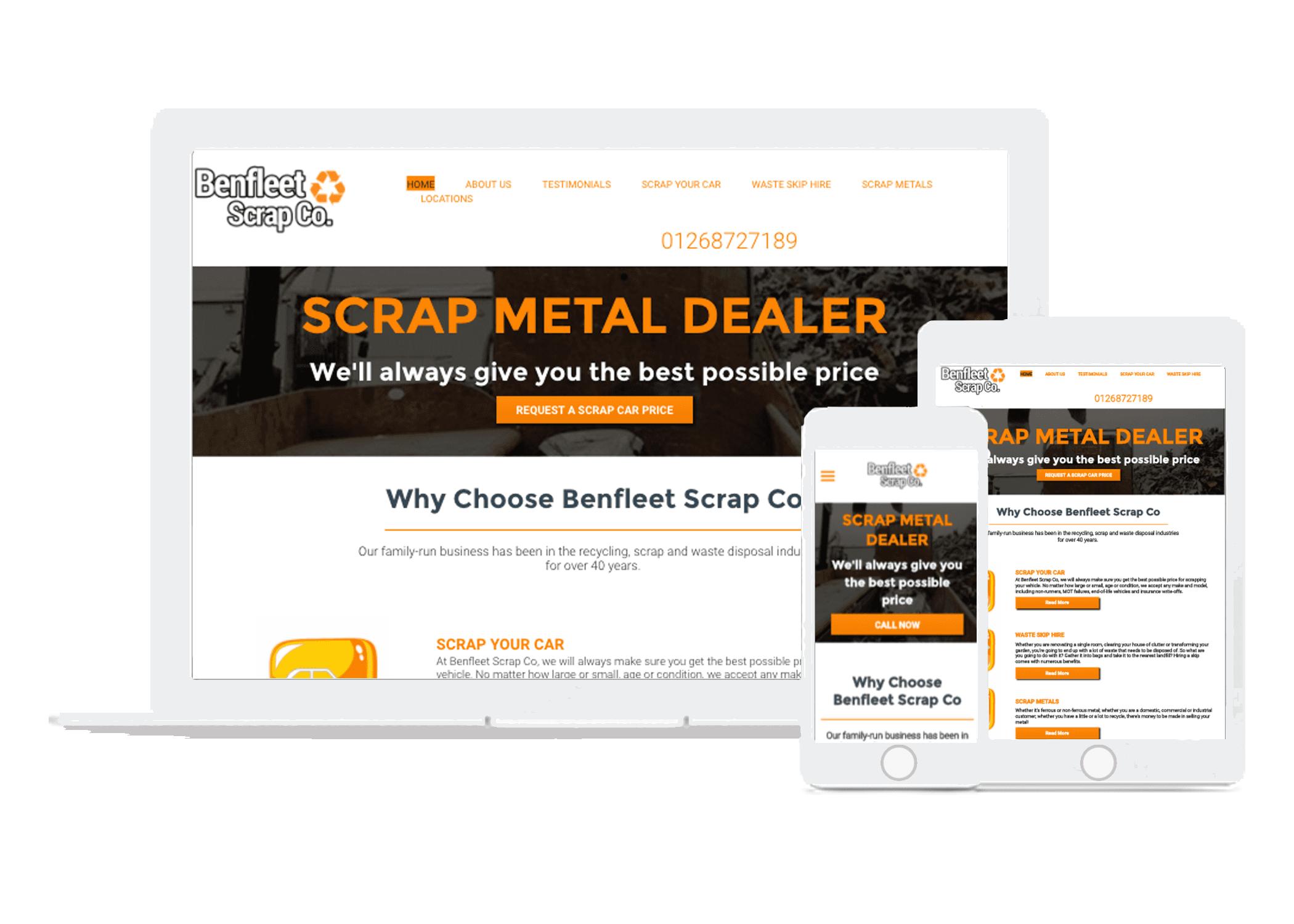 scrap metal website designers
