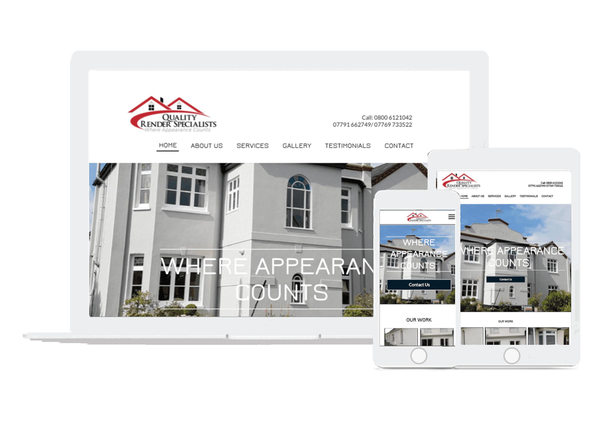 external wall rendering website designers