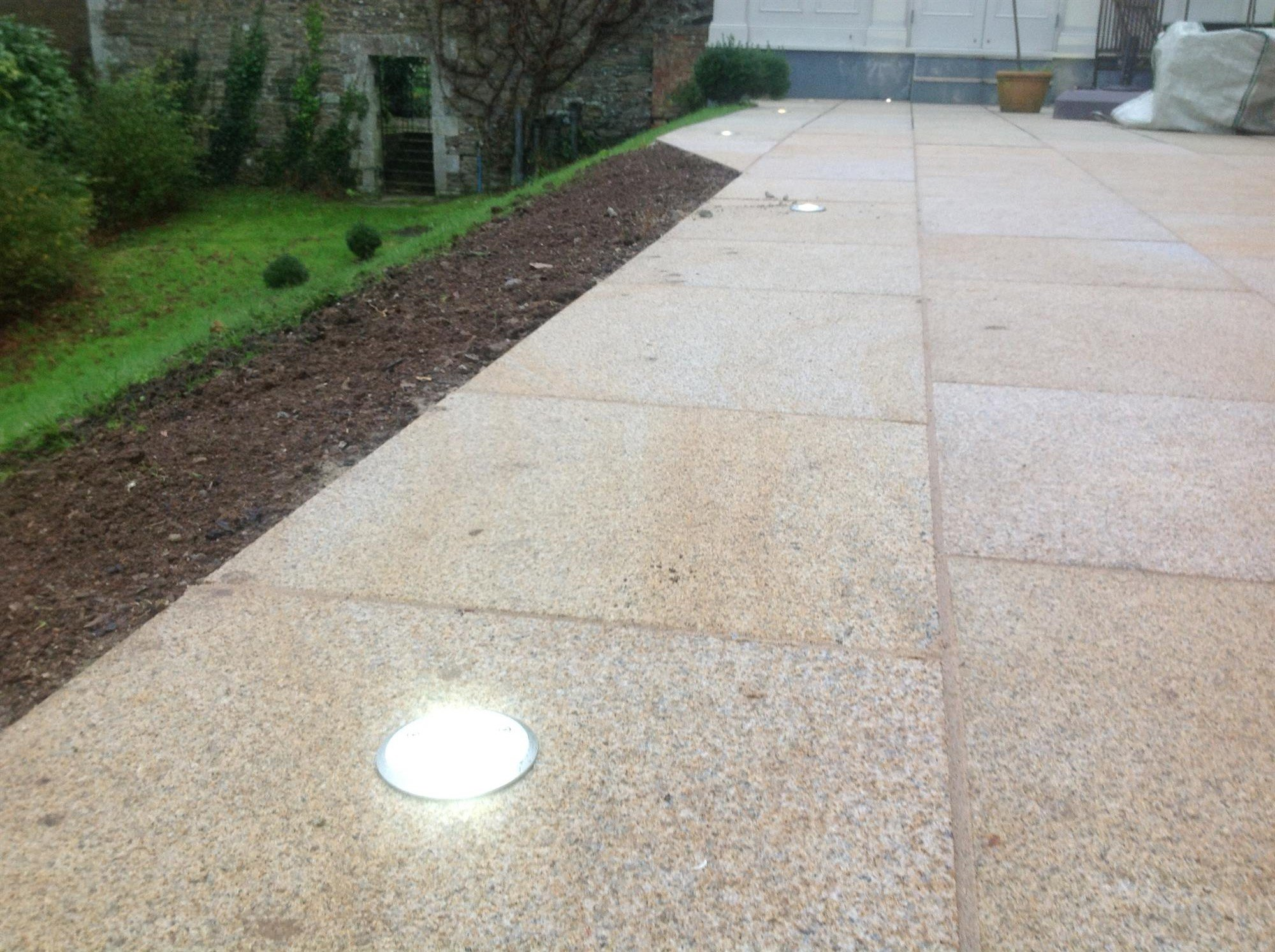 stone pathway installed