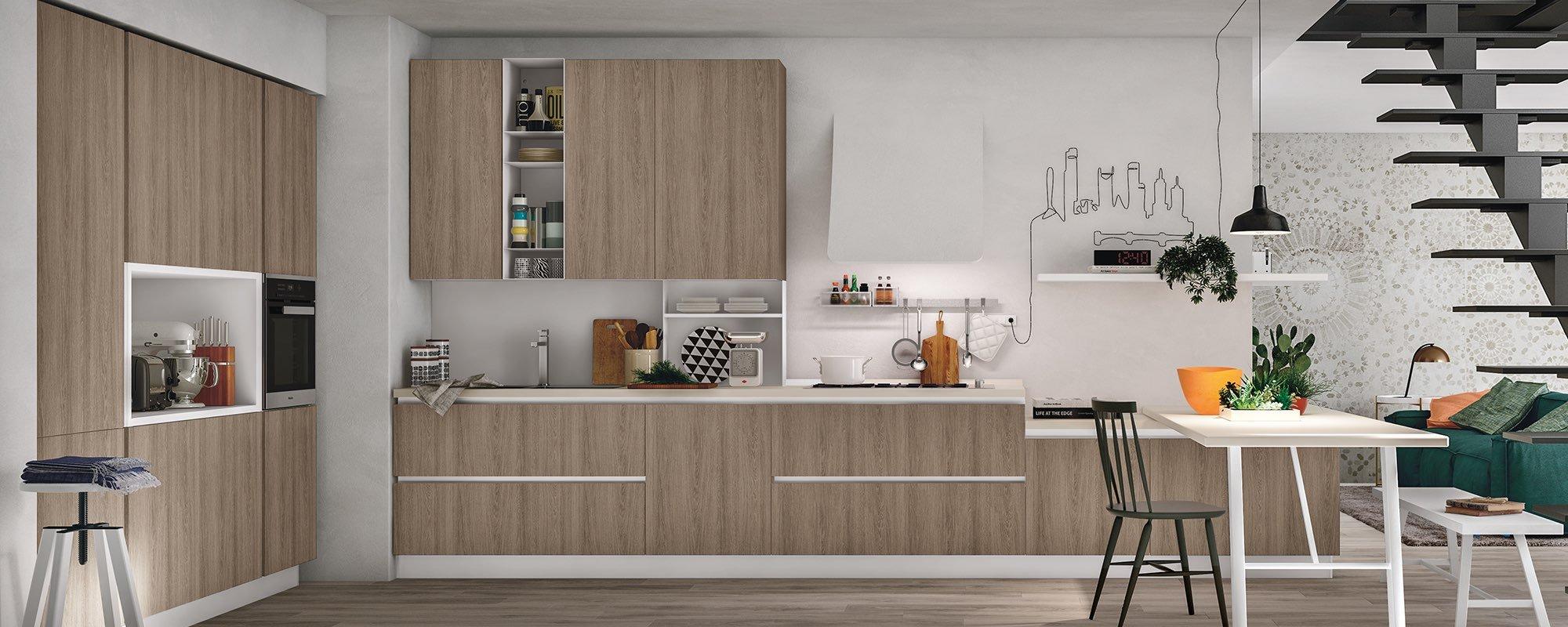 cucina moderna e classica color legno