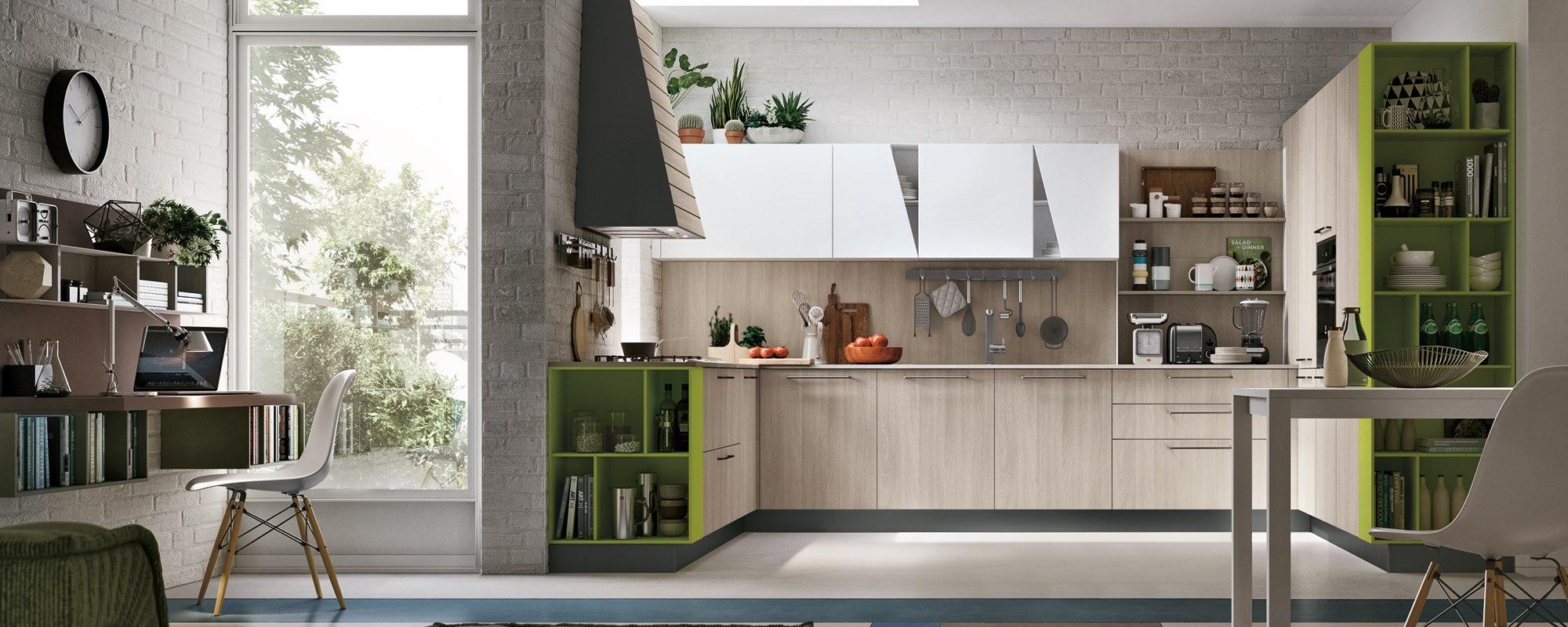 cucina moderna con angolo studio
