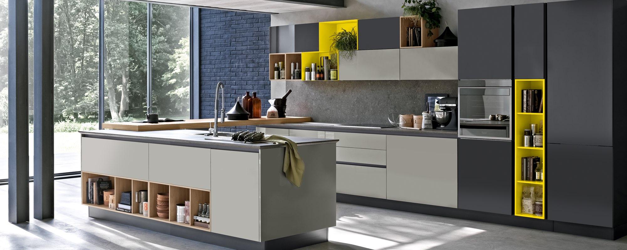 cucina moderna in legno laccata - ALEVE
