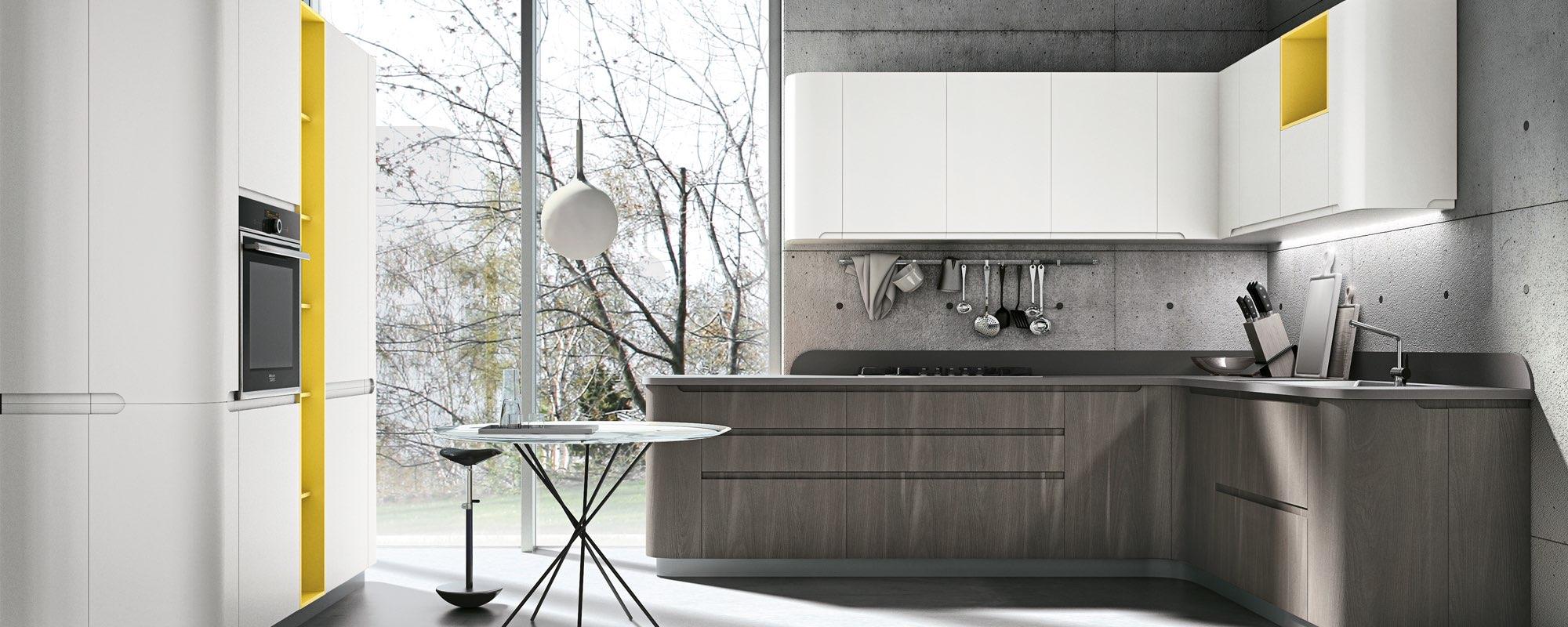 cucina moderna in legno ad angolo - BRING