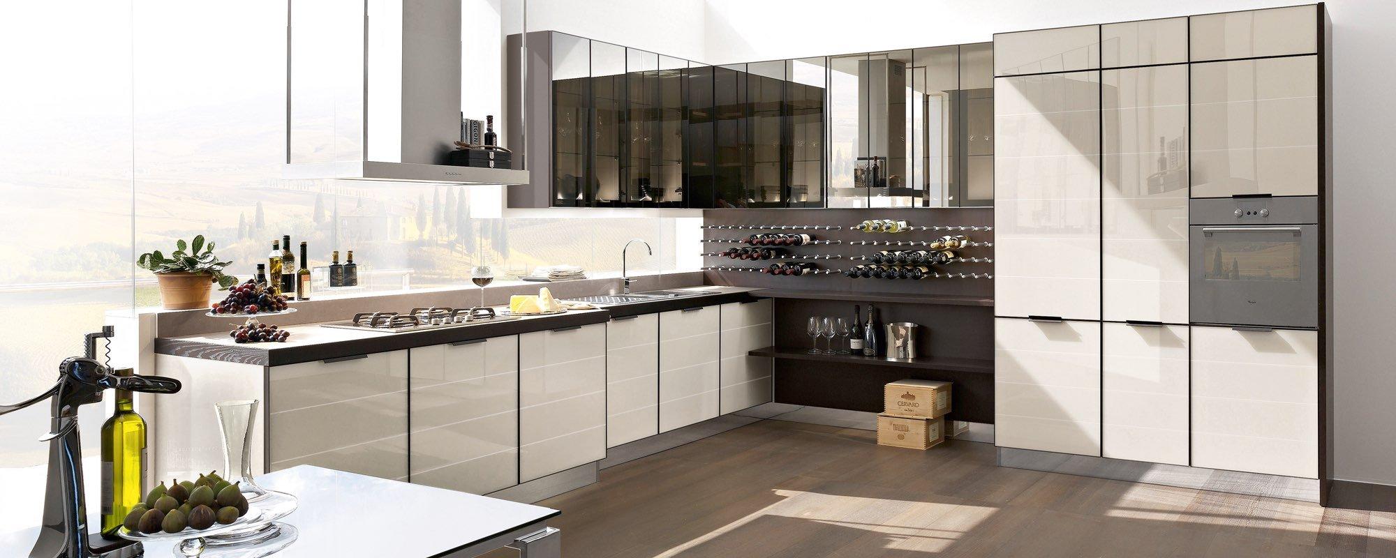 bancone di cucina moderna con arredamento-Brilliant