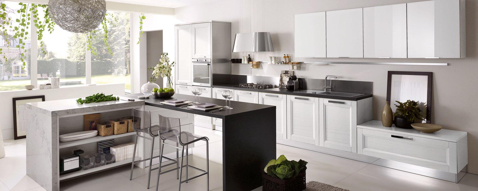 Cucina stosa bianca e nera -Beverly