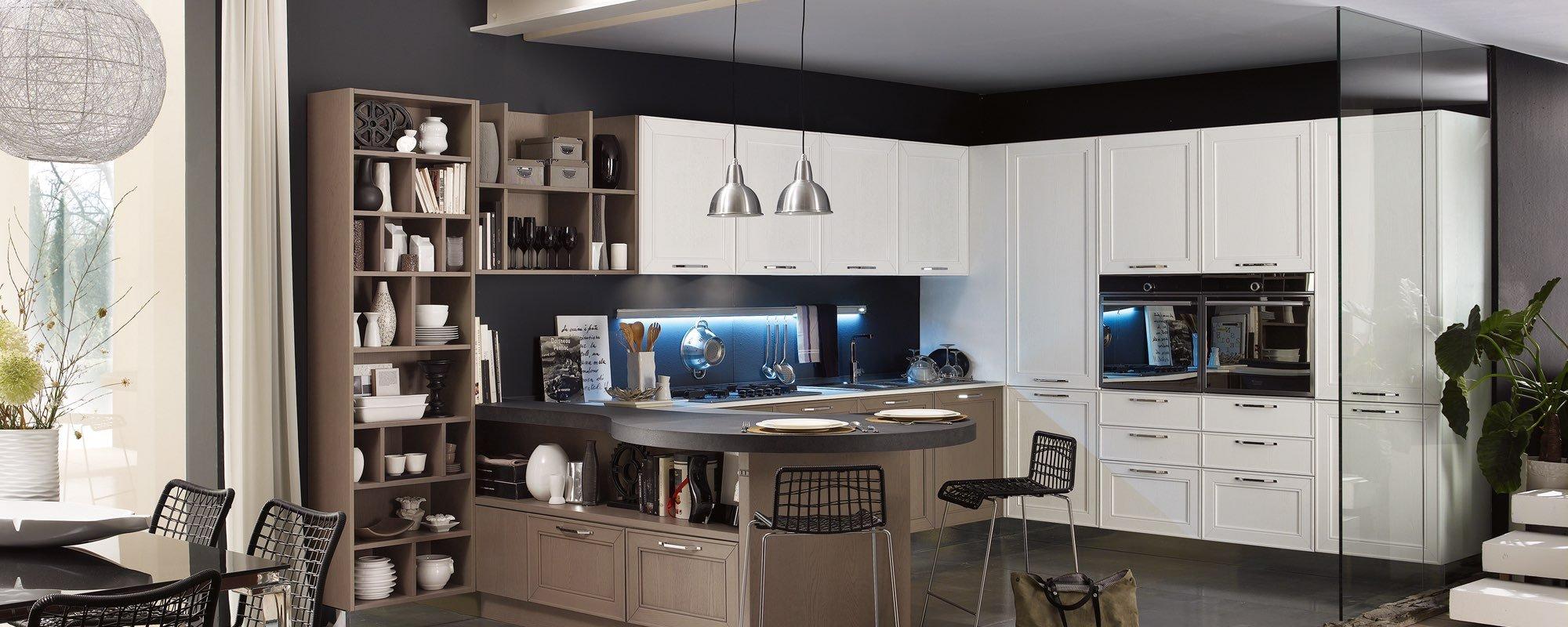 cucina stosa contemporanea in legno con designo stile e arredamento - MAXIM