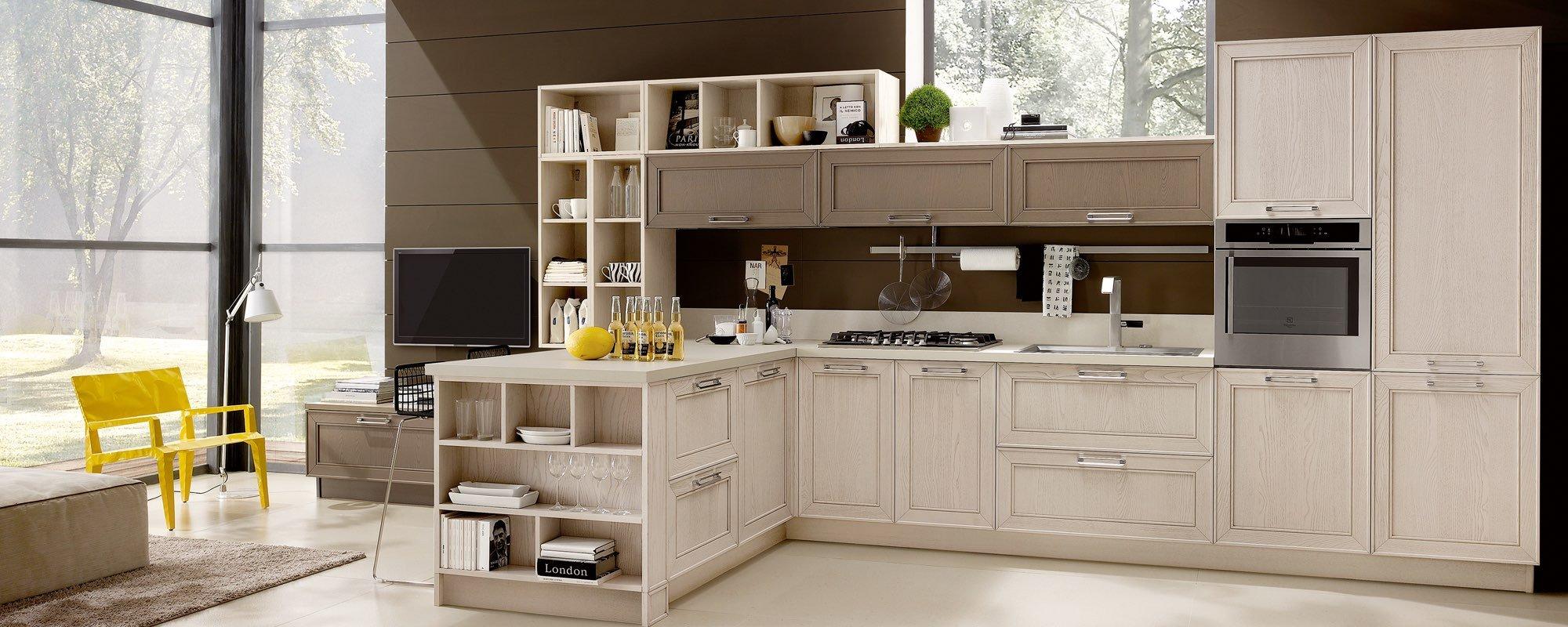 cucina moderna in legno ad angolo - MAXIM