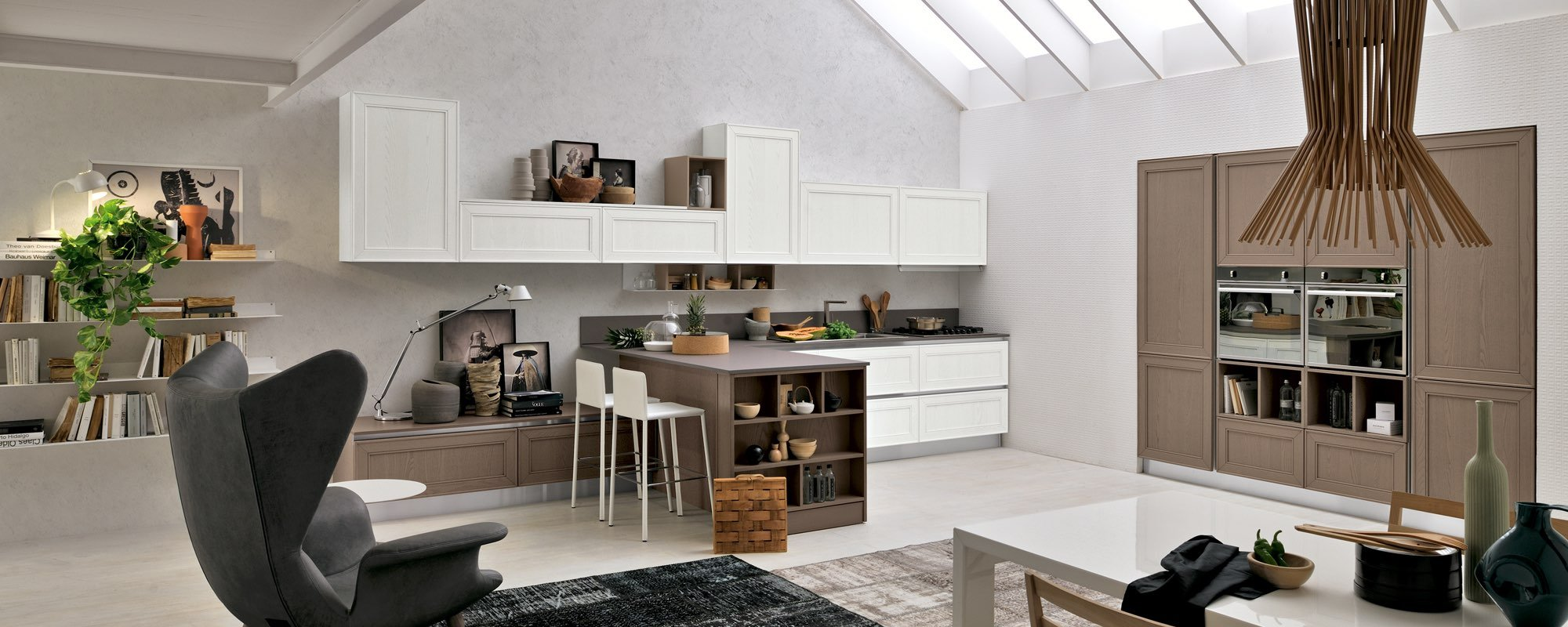 cucina bicolor contemporanea stosa -MAXIM