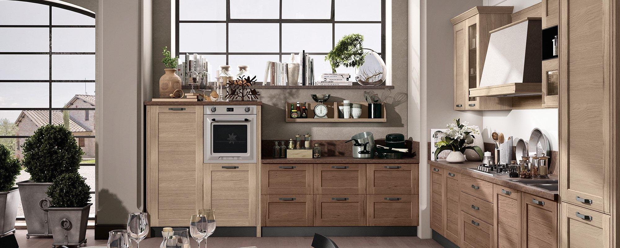 cucina moderna in quercia - YORK