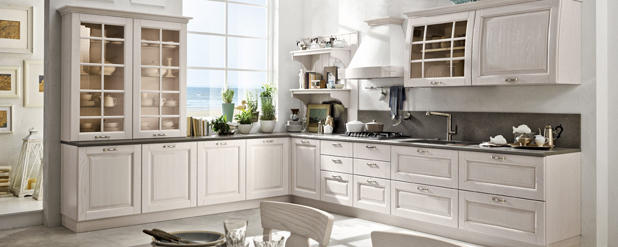 Cucina bianca Bolgheri Stosa ad angolo -BOLGHERI
