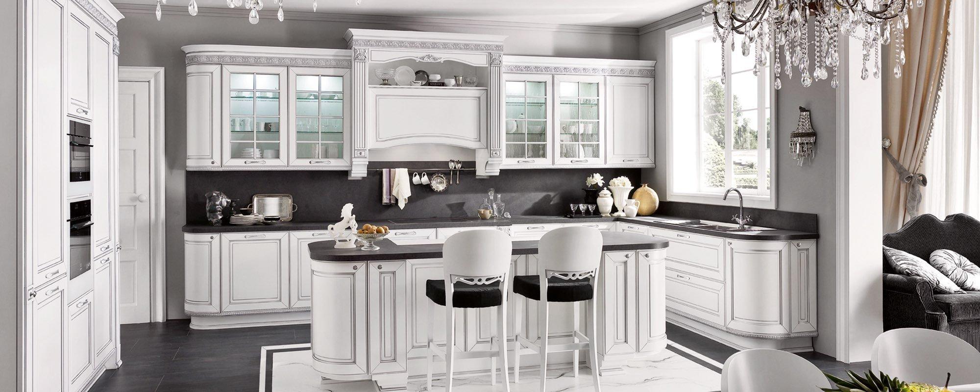 cucina bianca classica arredo -Dolcevita
