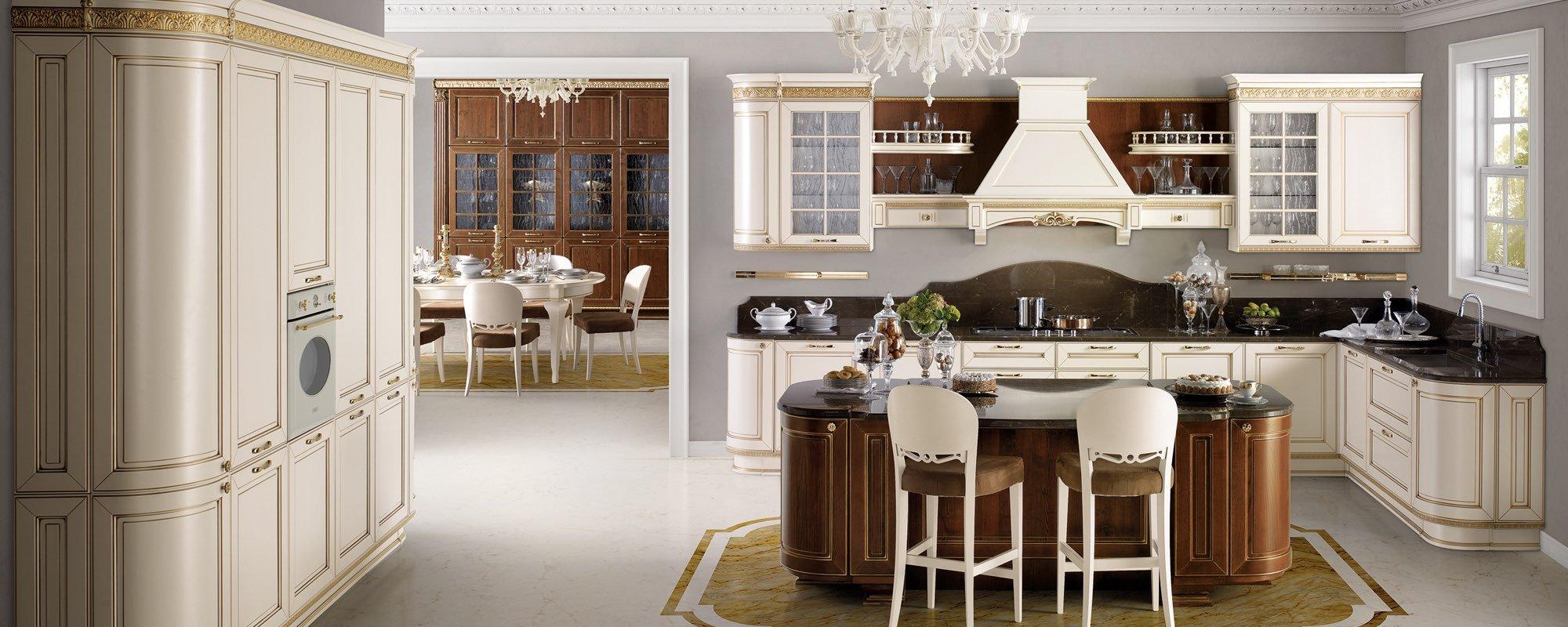 vista interna di una cucina con arredamenti -Dolcevita