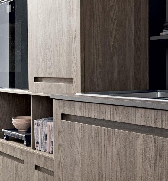 bancone di una cucina moderna in legno-MOOD