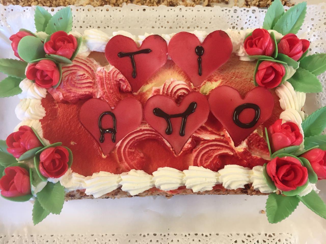 Torta decorata Ti Amo