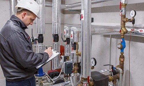 Expert monitoring the boiler in Washingtonville, NY