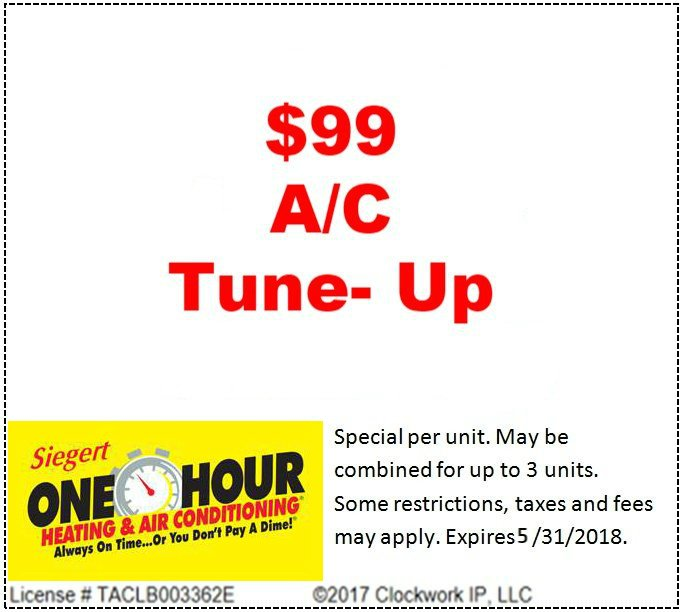 Specials Heating Ac Repair In College Station Navasota Bryan Tx Siegert