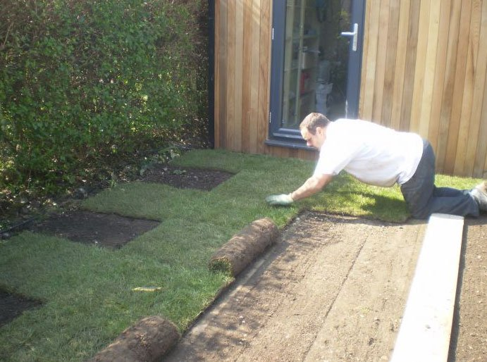 Turfing work in progress
