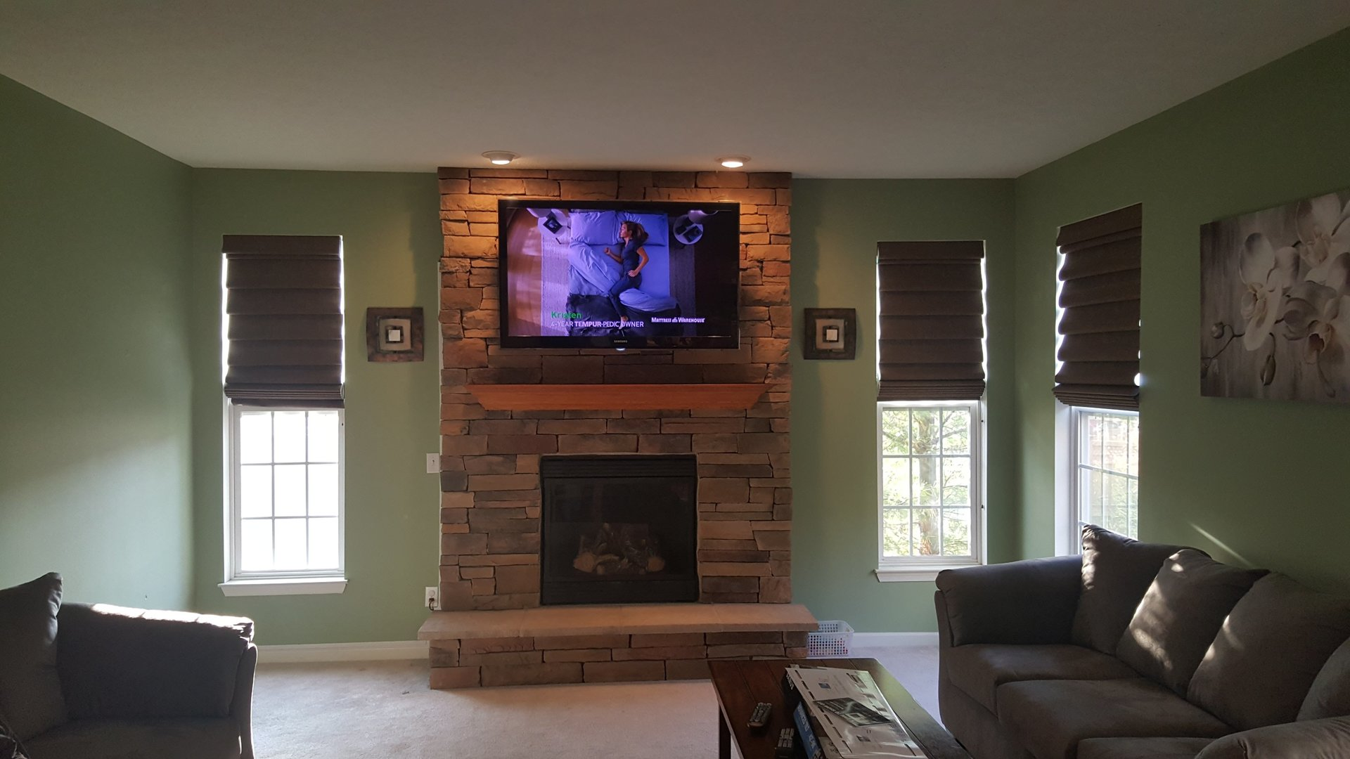 Tv Wall Mounting Fireplace Installation Setup Wiring A Slide Title