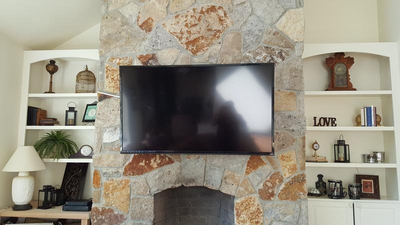 TV Installations, tv mounting, fireplace tv mounting