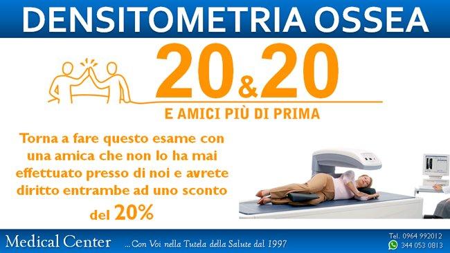 Offerta e promozione per densitometria ossea
