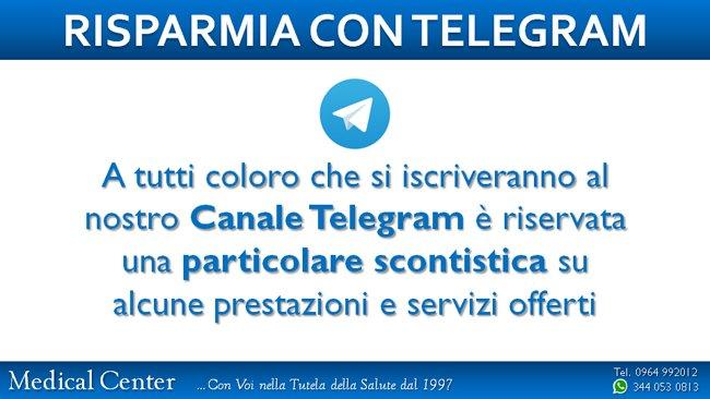 Offerta e promozione per risparmia con telegram