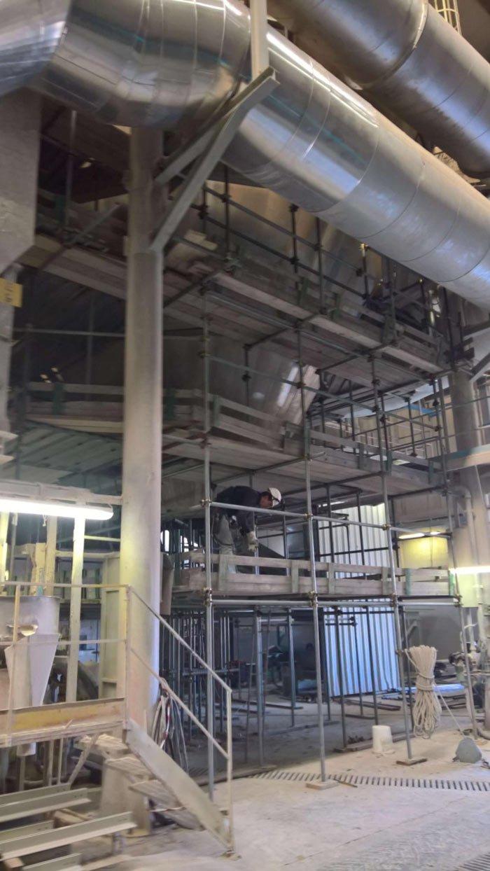 ponteggio manutenzione esterna atomizzatore