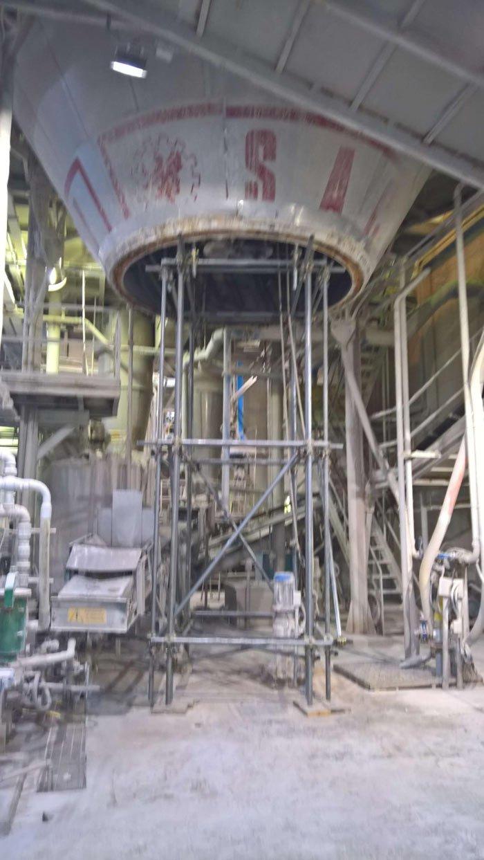 ponteggio manutenzione interna atomizzatore
