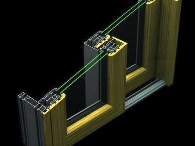 Sistema alluminio legno Vetreria S. Croce