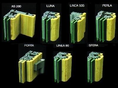 Profili alluminio legno Vetreria S. Croce
