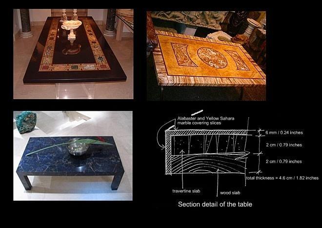 vendita tavoli in marmo