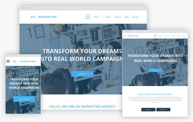 Reddrop Media Marketing Agency Template
