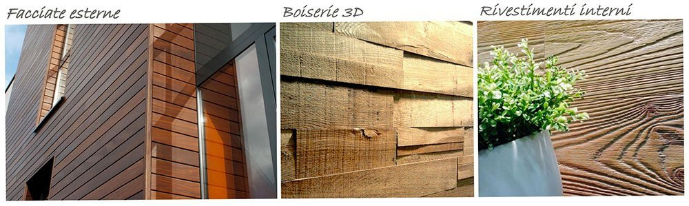 volantino di Facciate esterne, Boiserie 3D e Rivestimenti interni