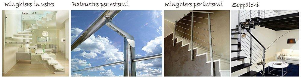 volantino di Ringhiere in vetro, balaustre per esterni, Ringhiere per interni e soppalchi