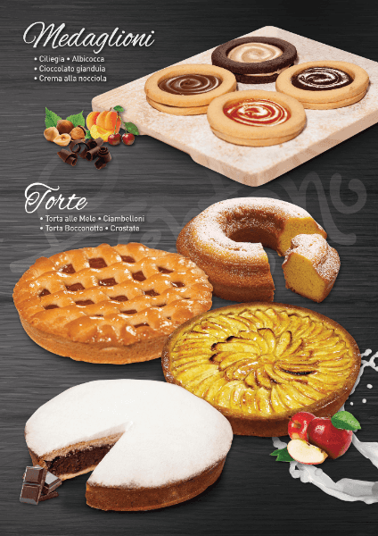 medaglioni dolci e torte