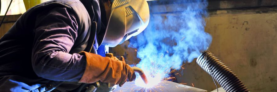 Man providing welding services in Anchorage, AK